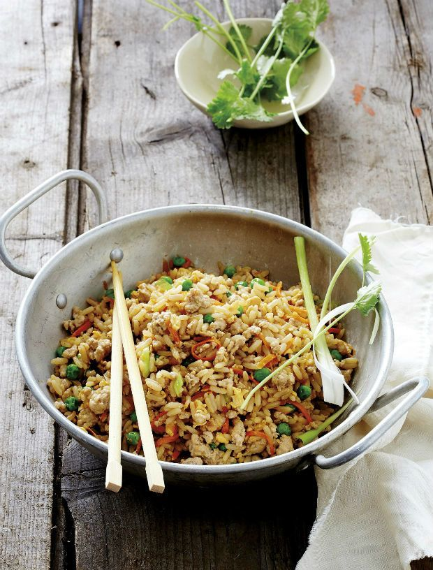 smažené vepřová rýže