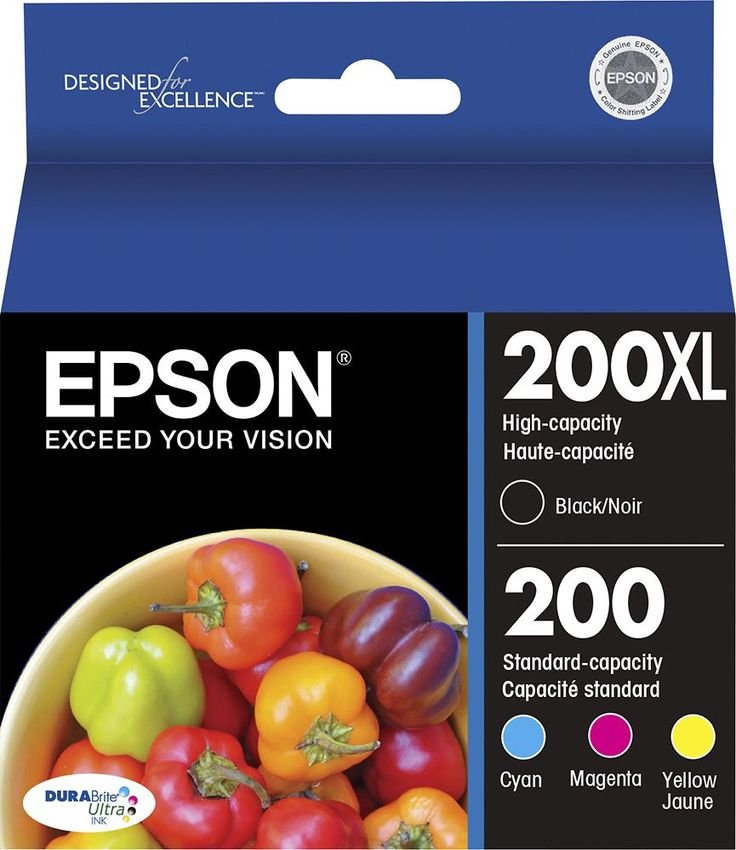 Epson - 200XL 4-Pack High-Yield Ink Cartridges - Cyan/Magenta/Yellow/Black (Blue/Pink/Yellow/Black), EPSON INK MULTIPACK  T200XL-BC