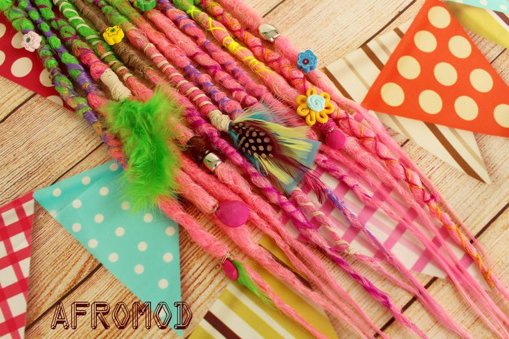 "Excited to share the latest addition to my #etsy shop: Double Ended Synthetic Dreads Extension Ready Made Ready to Ship Crochet Green Pink Dreadlocks ""Festival Set"" Afromod #dreadsextensions #syntheticdreads #crochetdreadlocks #syntheticdreadlocks #crochetdreads #doubleendeddreads #hairextensions #greendreads #pinkdreads #boho"
