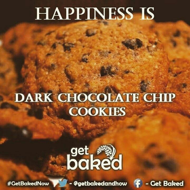 #Happiness is #DarkChocolate #Chip #Cookies! #GetbakedNow #Chocolatechip #Chocolate #OvenFresh #Foodporn #Yum #Tasty