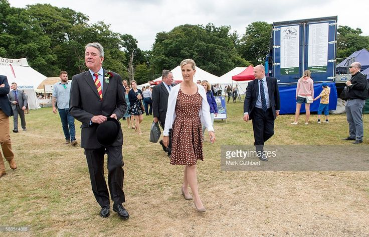 Sophie, Countess of Wessex during a visit to the New Forest show on July 26, 2016 in Brockenhurst, England.