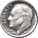 1946-1964 Roosevelt Silver Dime Melt Value  list at:   http://www.coinflation.com/silver_coin_values.html