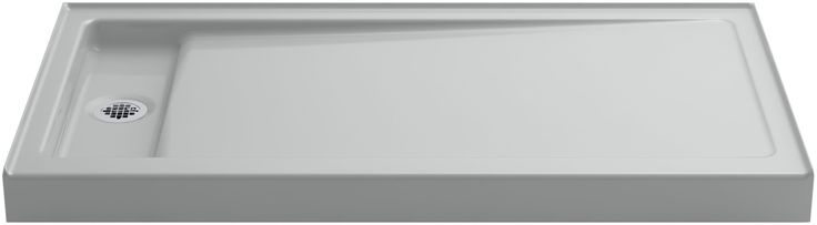 "Kohler K-9165 Bellwether 60"" x 32"" Single Threshold Shower Base with Recessed Of Ice Grey Showers Shower Pans Single Threshold"