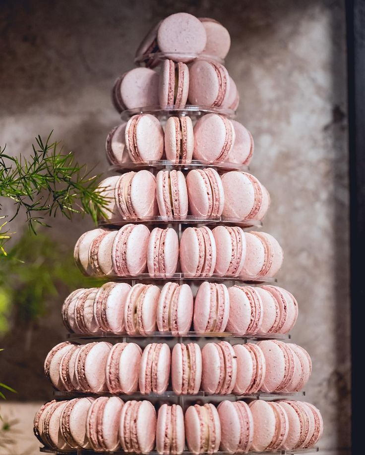 Uma quinta feira cor de rosa para todos nós! Torre de macarons acrílica com 100 unidades ! #maymacarons #macarons #torredemacarons #macaronspersonalizados
