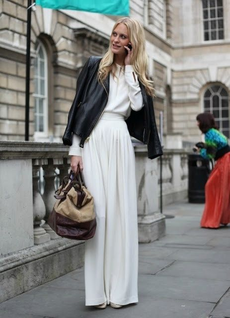 Soft maxi w/ leather ? Heck , yeah !!