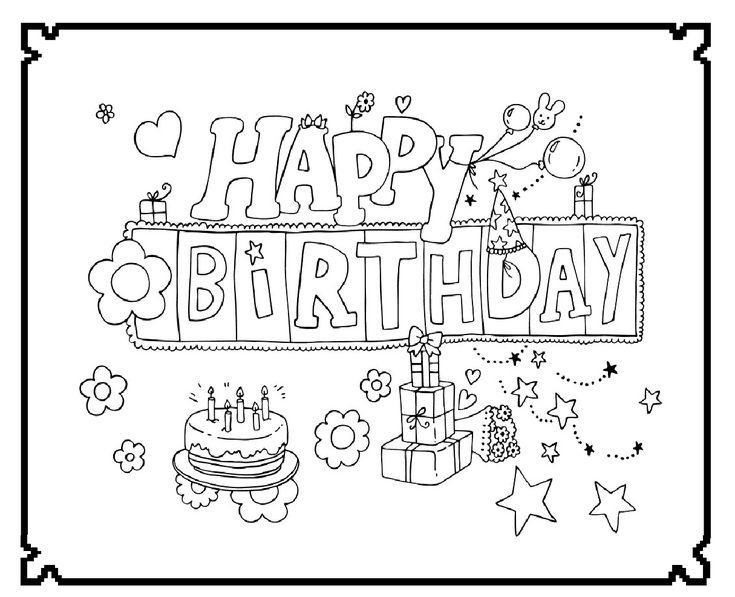 Happy Birthday Feest Kleurplaten Amp Wensjes
