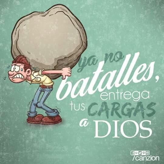 Entrégale tus cargas al Señor, y él cuidará de ti; no permitirá que los justos tropiecen y caigan. -Salmos 55:22 ¡Buenas noches!