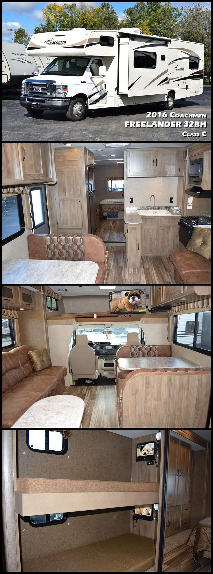 This 2016 COACHMEN FREELANDER 32BH is a great bunkhouse