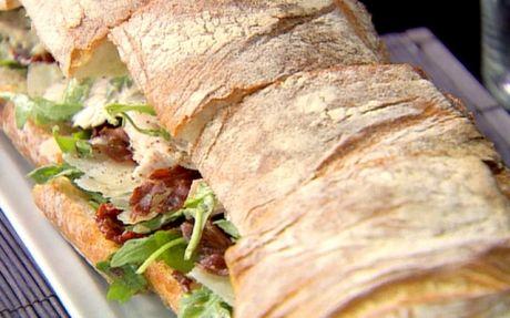 Caesar salad sandwich....think i would use dressing instead of mayo