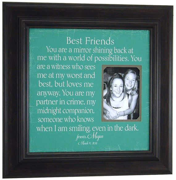 Diy Gifts For Your Best Friend Google Search: Personalized Picture Frame For Sisters Best Friend Maid Of