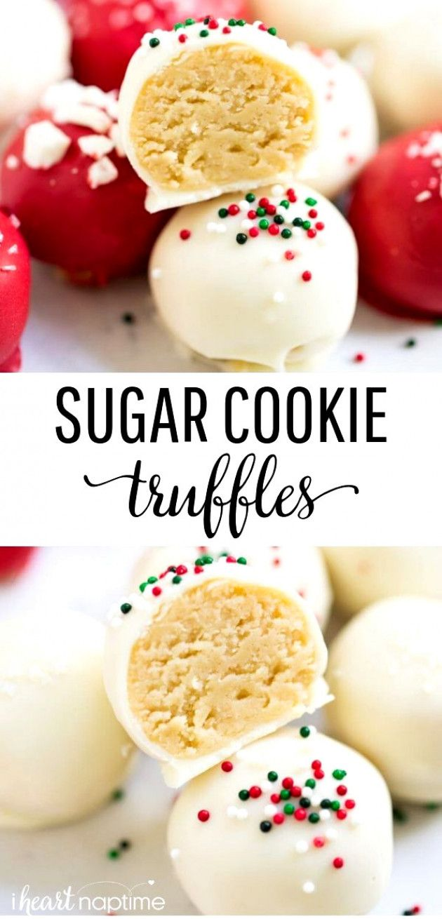 No Bake Sugar Cookie Truffles Made With Only 4 Ingredients An Easy