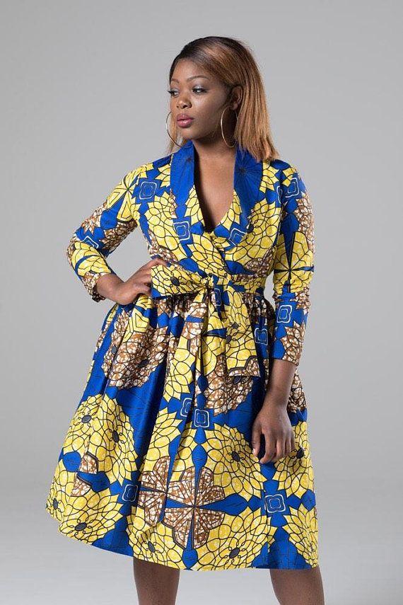 6cd50b3cd22e Sexy yet conservative, our African print ankara wrap dress will make you  feel ultra feminine