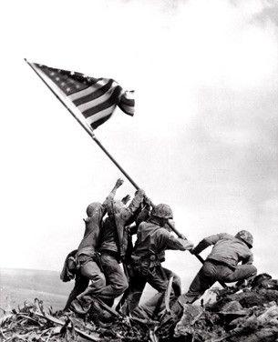 Joe Rosenthal's Flag Raising on Iwo Jima Fine Art Print