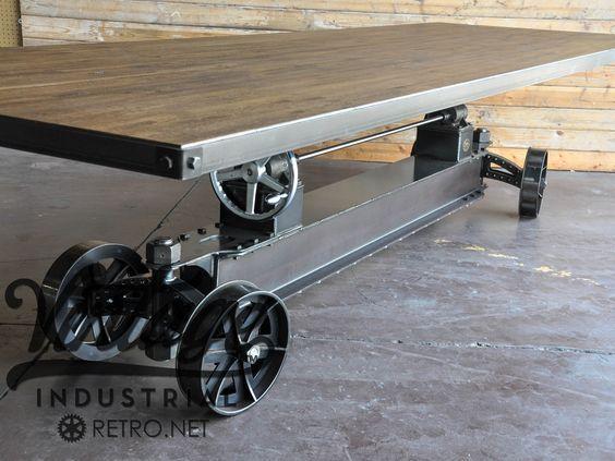 Tren manivela de la mesa | Industrial del Mueble de la vendimia: