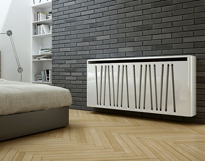 Empty modern interior with radiator onepixel