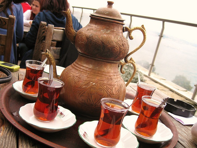 Turkish Tea - Istanbul. I had tea like this in Istanbul and elsewhere in Turkey, delicious.