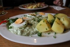 "Frankfurt is well known for its ""green sauce"" dish."