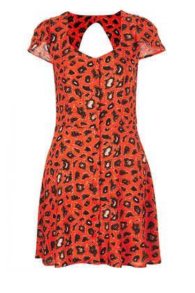 Petite Animal Open Back Tea Dress - New In This Week