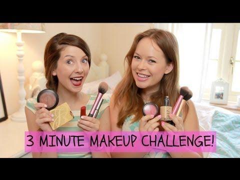 Tanya Burr & Zoella 3 Minute Makeup Challenge!  I love Tanya Burr