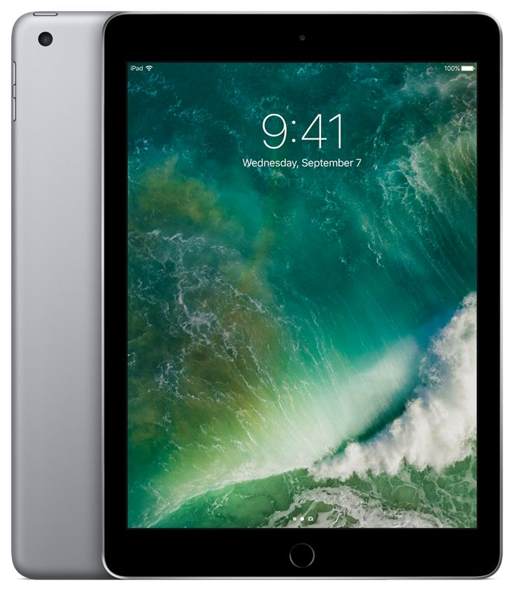iPad (2017) - Whether you're enjoying photos, shopping, or building a presentation, the vivid 9.7‑inch Retina display has the detail and size to really bring them to life. The 64-bit A9 chip delivers performance that makes every app feel fast and fluid. Explore rich learning apps, play graphics-intensive games, or even use two apps at once. All while enjoying up to 10 hours of battery life.