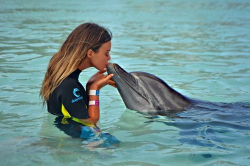 Swimming with the dolphins at Atlantis...check!