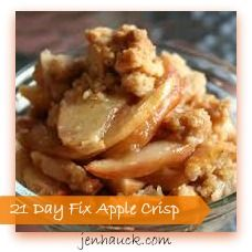 Apple Crisp One of my most favorite desserts to make this time of year is an Apple Crisp!!  Simple to make, figure friendly and the kids love it!! It's rich in flavor of baked apples, walnuts, oats...
