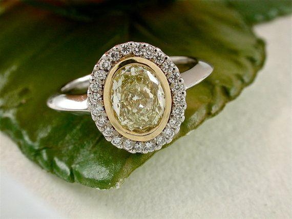 Yellow Diamond Ring  1 Fancy Yellow by RandomJewels, $5700.00