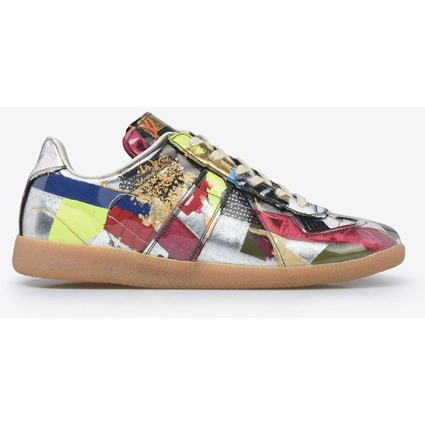 Maison Margiela Sneakers ($1,460) ❤ liked on Polyvore featuring men's fashion, men's shoes, men's sneakers, silver, maison margiela men's shoes, maison margiela men's sneakers and mens round toe shoes