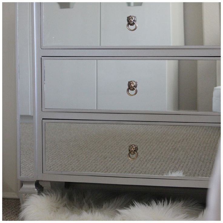 change out the drawer pulls on an inexpensive dresser to make it you own | via bungalow m
