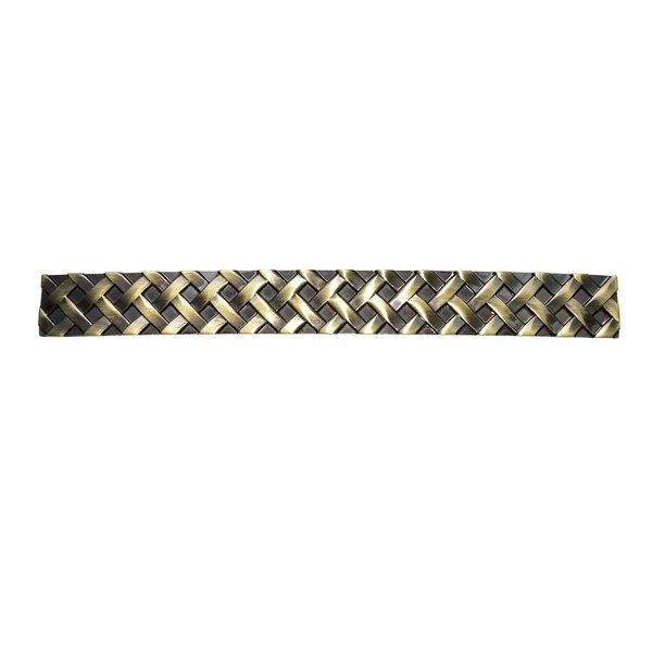 Utopia Alley quality cabinet hardware is manufactured of die cast zinc and then hand finished to highest standards. This handle pull coordinates with Utopia Alley Basket Weave Antique Brass Knob.