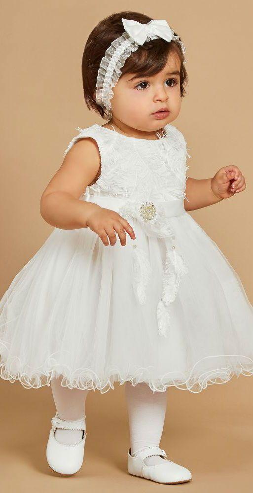 830b99931 LOVE! ROMANO PRINCESS Girls White Tulle Flower Girl Dress. This ...