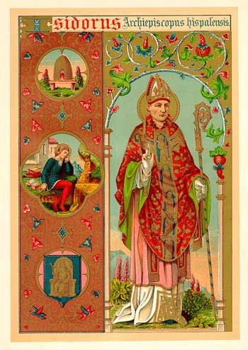 St Isidore of Seville   http://www.saintnook.com/saints/isidoreofsevillle  : Isidore of Seville: parton saint of the Internet
