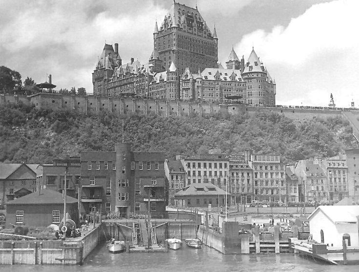 Le marché Champlain de la ville de Québec. Année: 1950.