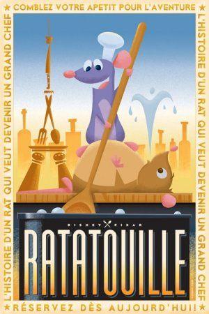 Ratatouille movie poster designed by Eric Tan