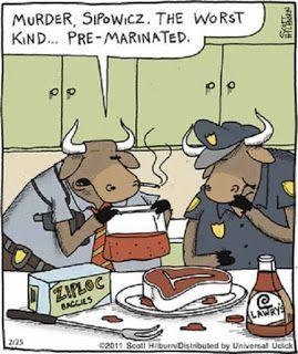 Mystery Fanfare: Cartoon of the Day: Murder