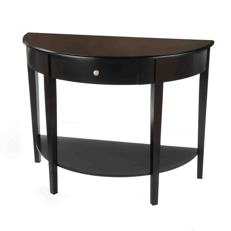Tufted Sofa Half Round End Table