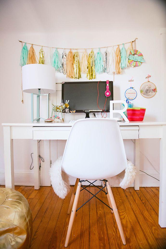 DIY decorations take girls bedroom from tween-to-teen
