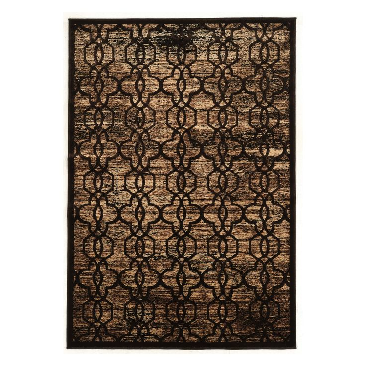 Linon Platinum Iron Gate Indoor Area Rug   RUGPM0623