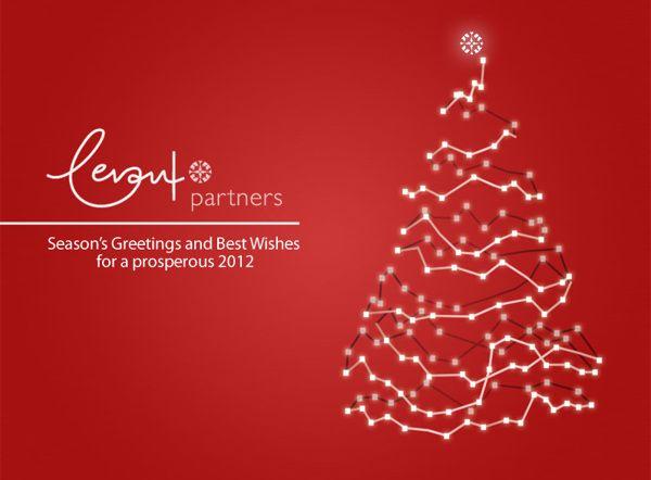 Christmas e-card for Levant Partners Greece SA by Yannis Aggelakos, via Behance