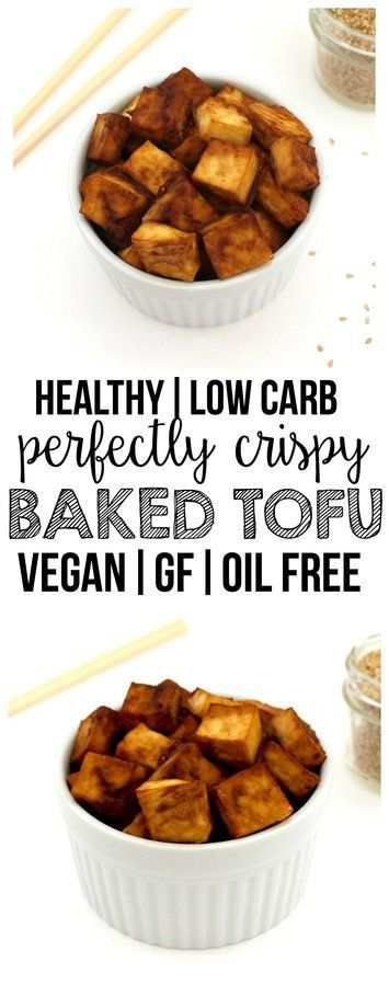 Perfectly Crispy Baked Tofu (Low-Carb, Vegan, Gluten-Free, Oil-Free)