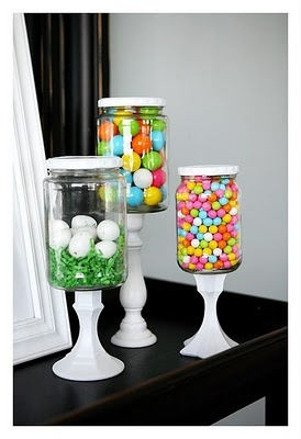 pickle jar project.: Pickle Jars, Candlesticks, Easter Decoration, Pickling Jars, Holidays, Glasses Jars, Apothecaries Jars, Candy Jars, Masons Jars