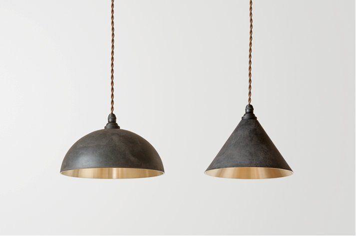 FUTAGAMI(フタガミ)真鍮の黒ムラ仕上げのペンダントランプ(照明・ライト) 二上