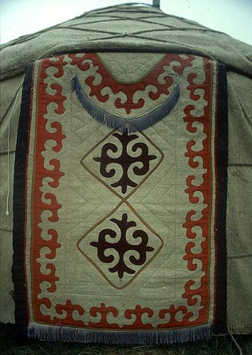 Yurt detail, At Bashy, Kyrghyzstan : CENTRAL ASIA, STEVE RAZZETTI MOUNTAIN PHOTOGRAPHY AND JOURNALISM