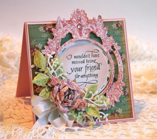 Wouldn t have missed being your friend card scrapbook com cards
