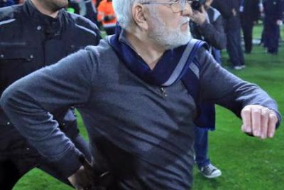 The Greek Super League has been indefinitely suspended after PAOK Salonika's president invaded the pitch with a gun during a match on Su...