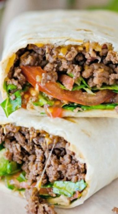 Bacon Cheeseburger Wraps | lunch, dinner ideas, easy-to-make snack