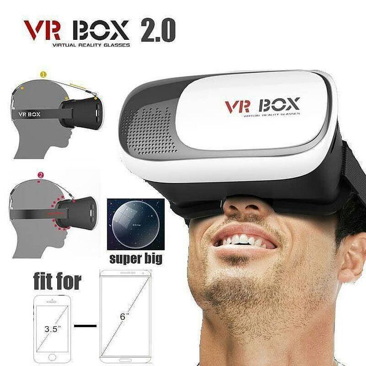An awesome Virtual Reality pic! VR BOX (Virtual Reality )  Nikmati Film di smartphone anda dengan pakai Vr Box ini.  Cardboard ini terbuat dari bahan material plastik yang berkualitas untuk menopang smartphone dan dilengkapi dengan tali yang elastis agar dapat dikaitkan di kepala Anda sehingga lebih nyaman dan mudah  Anda dapat nikmati 3D Virtual Reality dengan gampang cukup download aplikasi cardboard (atau sejenisnya) dan masukkan smartphone kedalam VR Box rasakan sensasinya.  Tarik bagian…