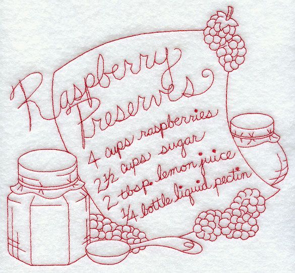 Raspberry Preserves (Redwork)