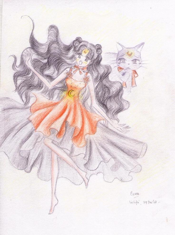 Luna...in sailor moon (my favorite when I was little)