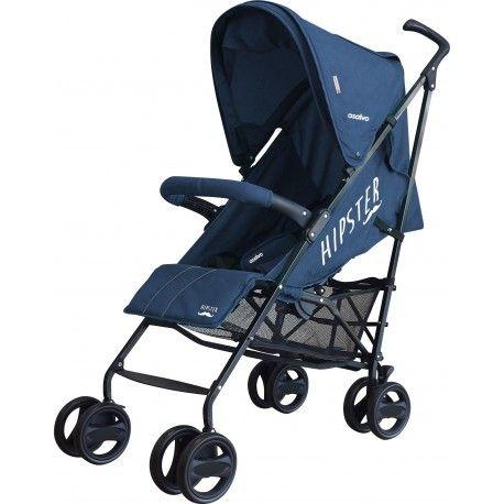 SILLA DE PASEO ASALVO HIPSTER: chasis de aluminio con refuerzo antioxidación, asiento reclinable con 4 posiciones, ajustable con una mano para mayor comodidad.